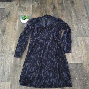 Etcetera Sheath Dress Sz 10 Queen Anne Black Gray